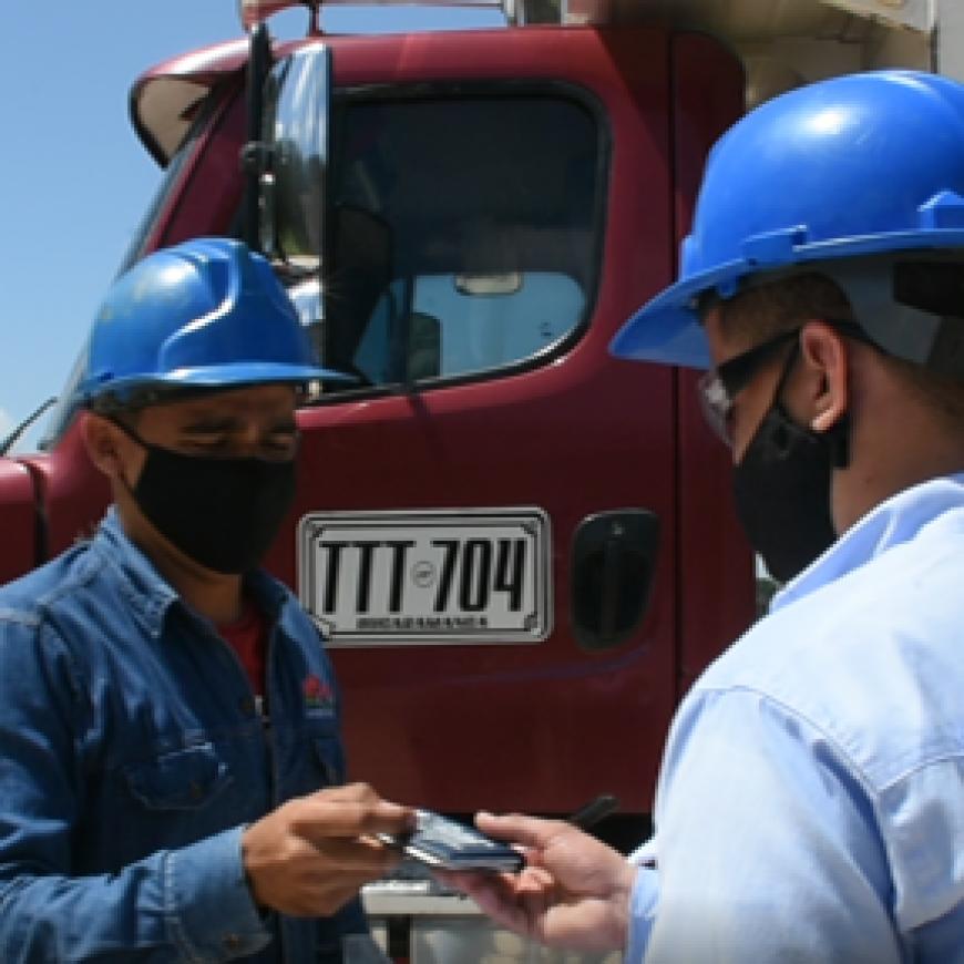 Registro de tara vehicular para transportadores de fruta de proveedores