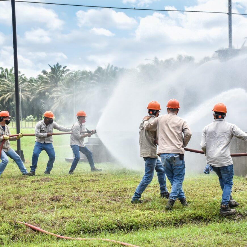 Se capacitan brigadistas contra incendios en el Área Industrial
